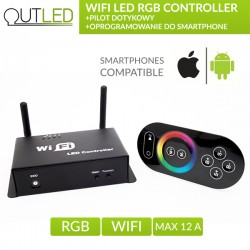 WIFI LED RGB CONTROLLER / KONTROLER DO OŚWIETLENIA LED RGB