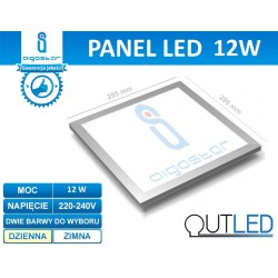 Panel LED slim 12W AIGOSTAR