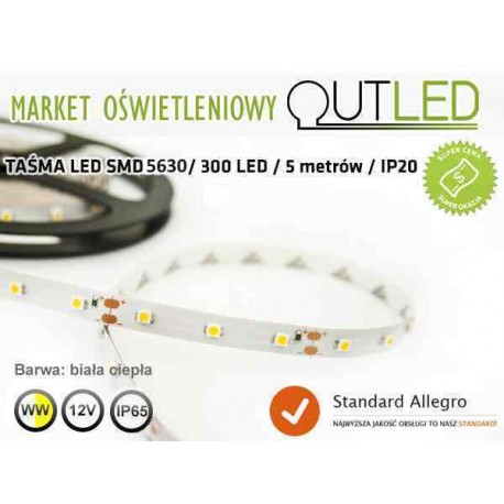 Taśma LED 300 SMD 5630 IP65